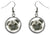 Pug Dog Silver Hypoallergenic Stainless Steel Earrings
