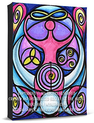 My Altar Triple Moon Goddess Reiki Healing Power Print Gallery Wrapped Canvas