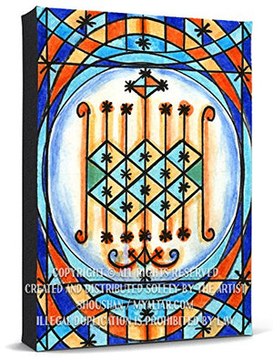 Ogun Veve Blessings of Power Voodoo Magic Print Gallery Wrapped Canvas