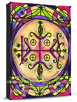 My Altar Papa Legba Veve Gatekeeper Voodoo Print Gallery Wrapped Canvas