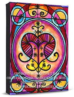 My Altar Erzulie Freda Veve Love Magic Voodoo Print Gallery Wrapped Canvas