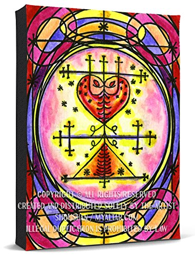 Maman Brigitte Veve Spirit World Blessings Voodoo Print Gallery Wrapped Canvas