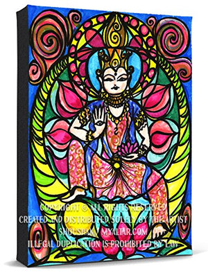 My Altar Kuan Yin Goddess of Love & Protection Print Gallery Wrapped Canvas