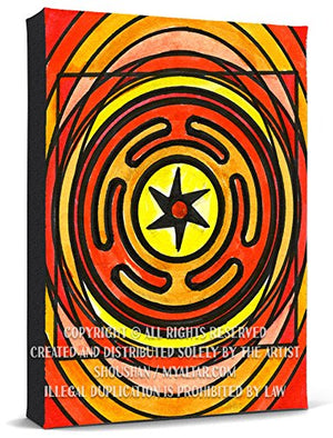 My Altar Goddess Hecate's Wheel of Magic Print Gallery Wrapped Canvas