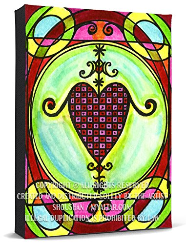 My Altar Erzulie Dantor Veve for Protection & Vindication Print Gallery Wrapped Canvas