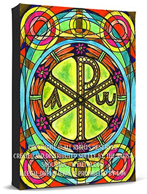 Chi Rho Greek Christogram Print Gallery Wrapped Canvas