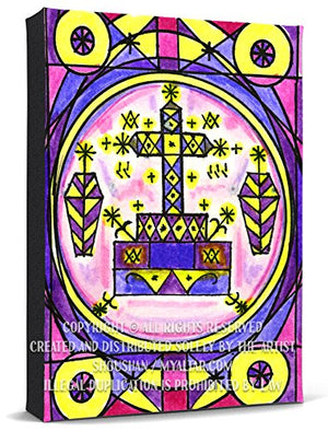My Altar Baron Samedi Veve Healing & Resurrection Voodoo Print Gallery Wrapped Canvas