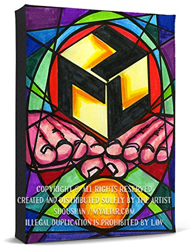 Antahkarana Gateway to Heaven Reiki Healing Print Gallery Wrapped Canvas