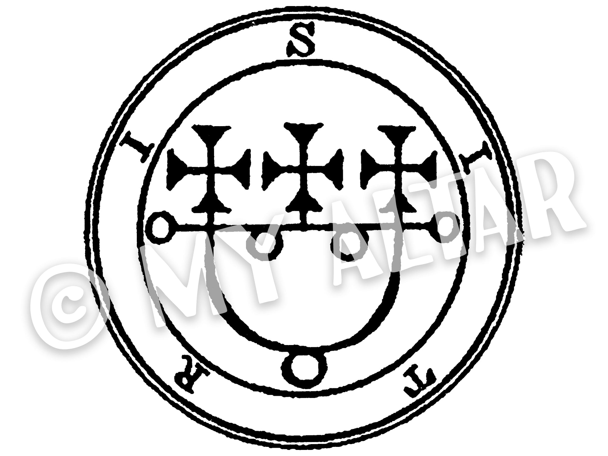"Set of 2 Large 5"" Sitri 12th Lesser Seal Goetia Solomon Invocation Sigil Waterproof Temporary Tattoos"