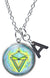 "My Altar La Sirene Mermaid Seduction Prosperity and Initial Charm Steel 24"" Necklace"
