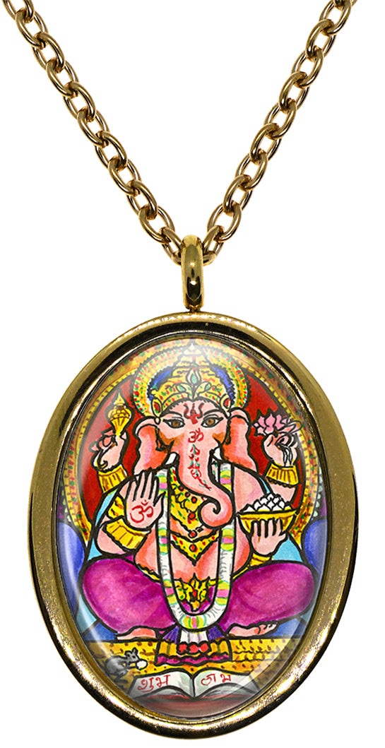 My Altar Lord Ganesh for Manifesting & Transforming Karma Stainless Steel Pendant Necklace