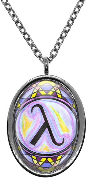 My Altar Lambda LGBT Pride Symbol Stainless Steel Pendant Necklace