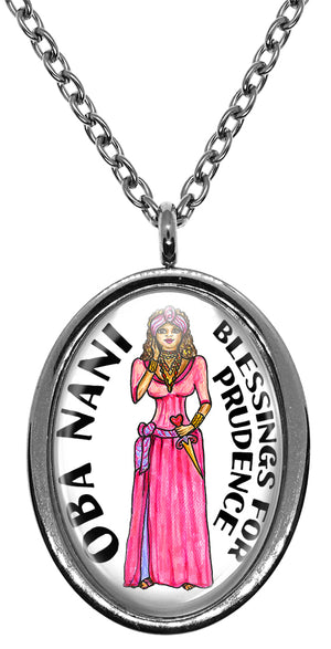My Altar Oba Nani Orisha for Prudence Stainless Steel Pendant Necklace
