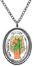 My Altar Archangel Jeremiel Gift of Psychic Visions Protected by Angels Steel Pendant Necklace