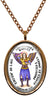 My Altar Archangel Raguel Gift of Justice Protected by Angels Steel Pendant Necklace