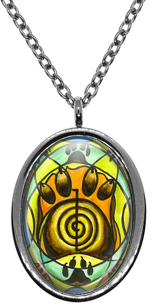 My Altar Animal Reiki Choku Rei for Activating Energy Stainless Steel Pendant Necklace