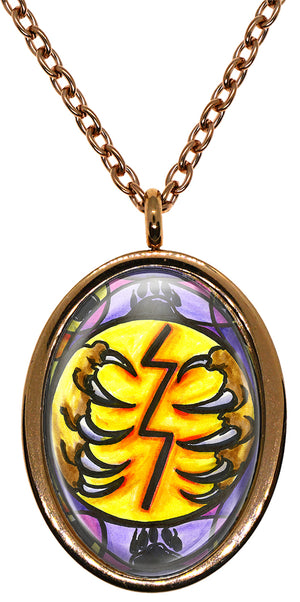 My Altar Animal Reiki Raku Symbol for Grounding Stainless Steel Pendant Necklace