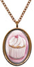 My Altar Vanilla Sweet Heart Cupcake Stainless Steel Pendant Necklace