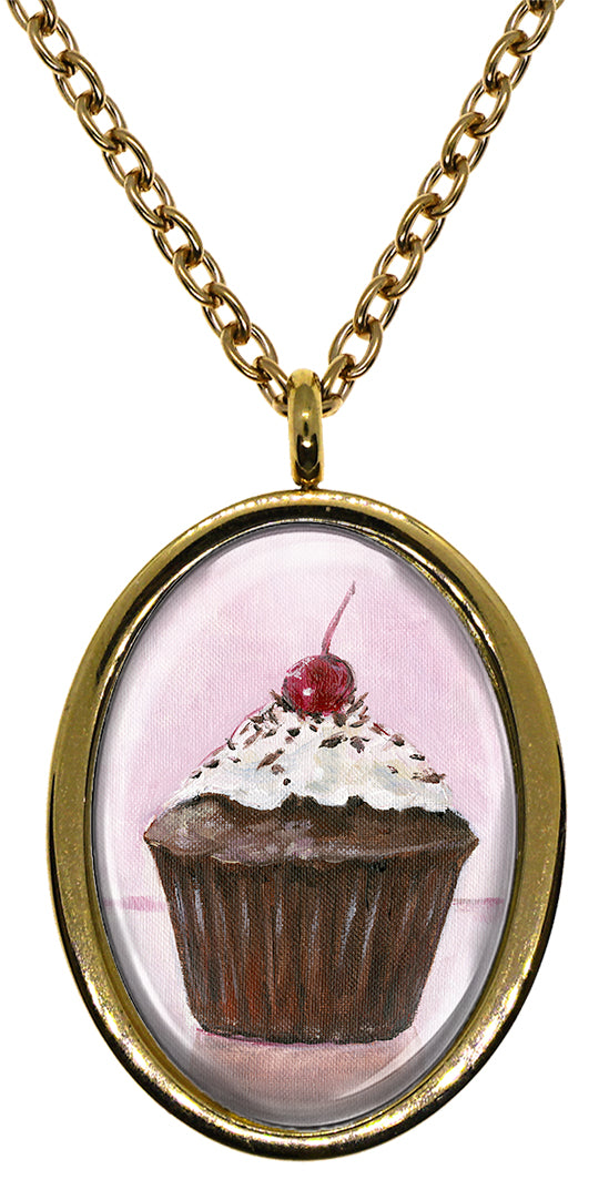 My Altar Chocolate Cupcake Stainless Steel Pendant Necklace