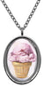 My Altar Pink Cherry Ice Cream Stainless Steel Pendant Necklace
