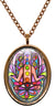 My Altar Chakra Hamsa for Regeneration & Manifestation Stainless Steel Pendant Necklace