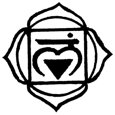 1st Chakra B&W Love Root Muladhara Waterproof Temporary Tattoos Lasts 3 to 4 days Choose Small, Medium or Large Sizes