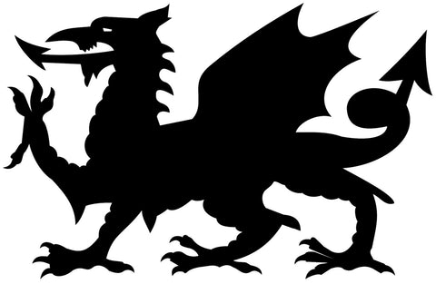 Black Heraldic Dragon Waterproof Temporary Tattoos Lasts 3 to 4 days Choose Small, Medium or Large Sizes