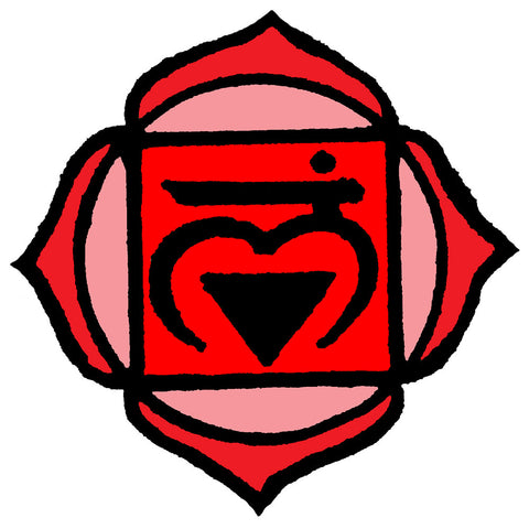 1st Chakra Red Love Root Waterproof Temporary Tattoos Lasts 3 to 4 days Choose Small, Medium or Large Sizes