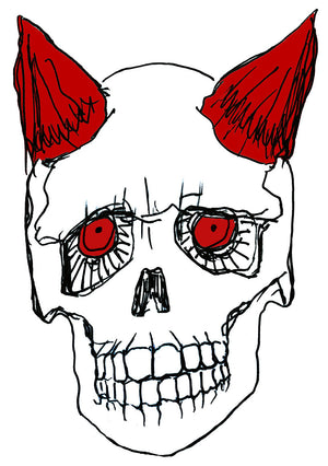 Devil Skull Waterproof Temporary Tattoos Lasts 3 to 4 days Choose Small, Medium or Large Sizes