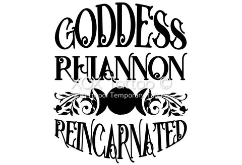 Goddess Rhiannon Reincarnated Waterproof Temporary Tattoos Lasts 3 to 4 days Choose Small, Medium or Large