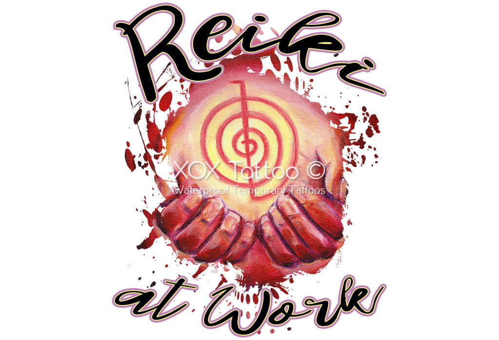 Reiki At Work Choku Rei Symbol Healing Hands Waterproof Temporary