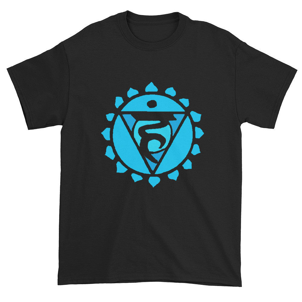 5th Chakra Vishuddha for Expression Unisex Black T-shirt