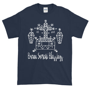 Baron Samedi Blessings Lwa Veve Voodoo Magic Adult Unisex T-shirt