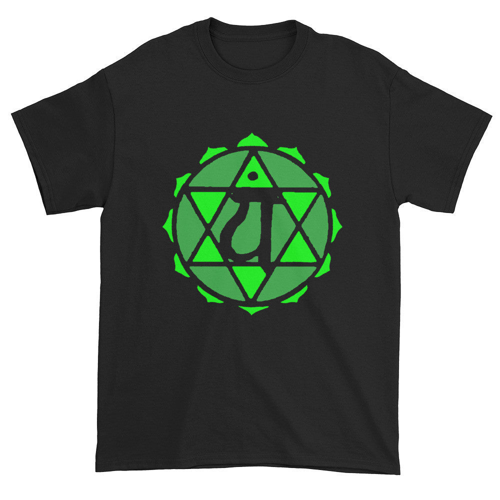 4th Chakra Anahata Heart Unisex Black T-shirt