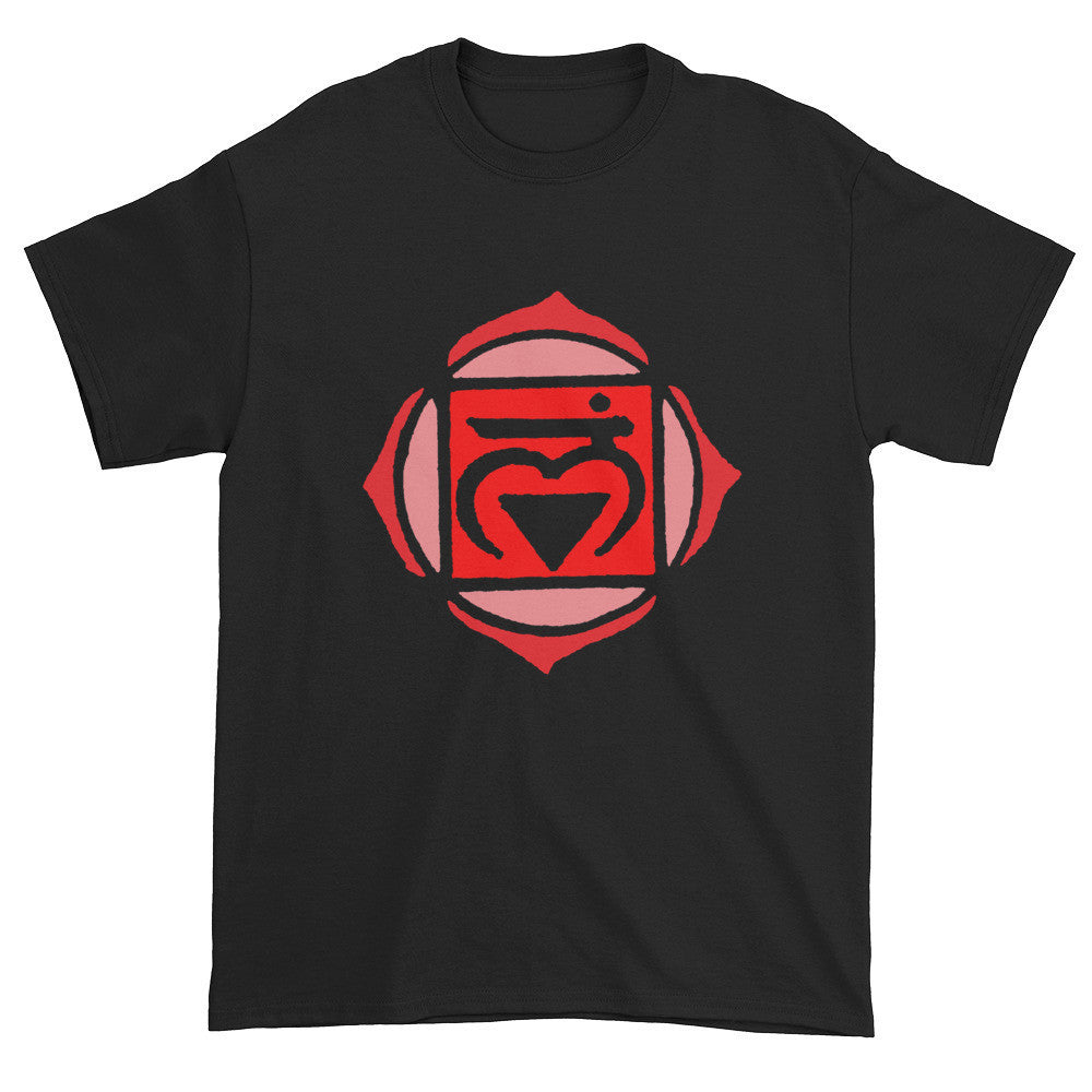 1st Chakra Muladhara Red Love Root Unisex Black T-shirt