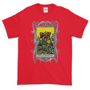 King of Pentacles Tarot Card Unisex Adult T-shirt