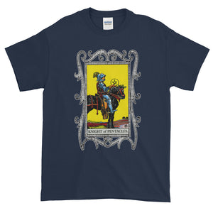 Knight of Pentacles Tarot Card Adult Unisex T-shirt