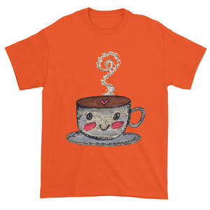 Whimsical Cute Happy Hot Cup Unisex T-shirt