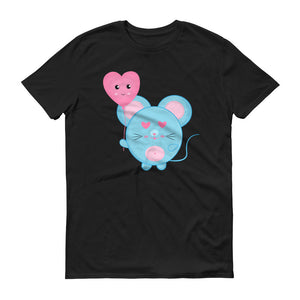 Cute Mouse with Heart Balloon Unisex T-shirt