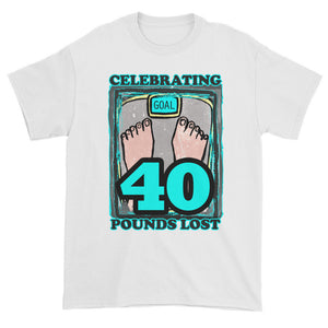 Celebrating 40 Pounds Lost Unisex T-shirt