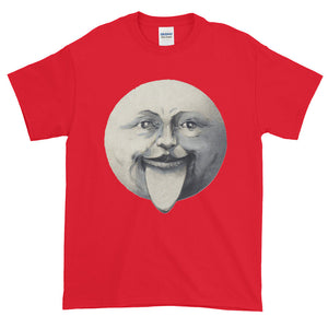 Whimsical Vintage Big Tongue Moon Adult Unisex T-shirt