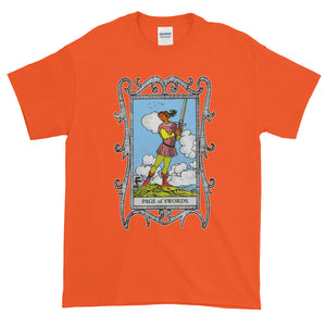 Page of Swords Tarot Card Adult Unisex T-shirt