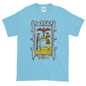 Two of Cups Tarot Card Adult Unisex T-shirt