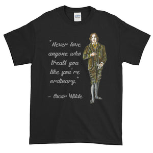 Oscar Wilde Ordinary Love Quote Adult Unisex T-shirt
