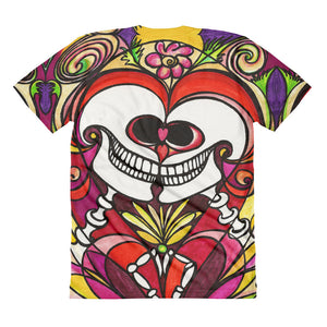 Eternal Love Skulls Full Bleed Front & Back women's crew neck t-shirt