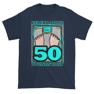 Celebrating 50 Pounds Lost Unisex T-shirt