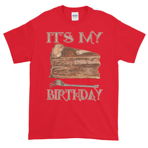 It's My Birthday Slice of Chocolate Cake Adult Unisex T-shirt