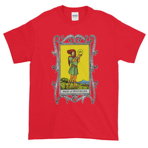 Page of Pentacles Tarot Card Adult Unisex T-shirt