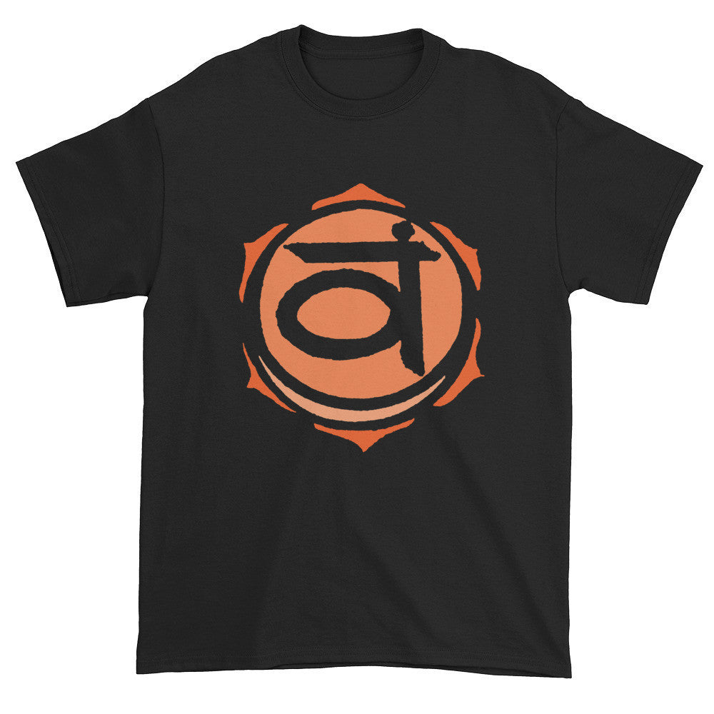 2nd Chakra Svadisthana for Vitality Unisex Black T-shirt