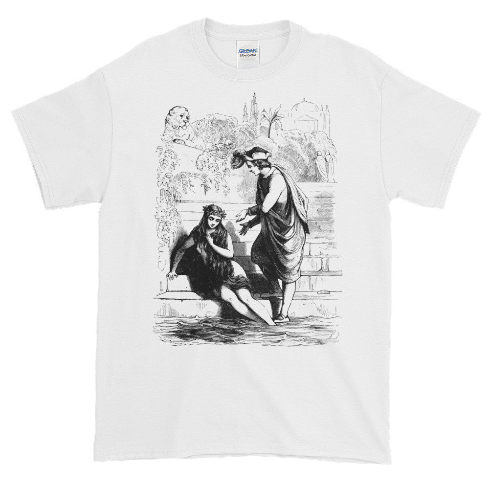 Prince Charming Rescues Beautiful Maiden Whimsical Victorian Vintage T-shirt